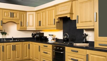 Oak Print PVC kitchen units